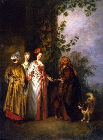 The Fortune Teller | Jean Antoine Watteau | oil painting