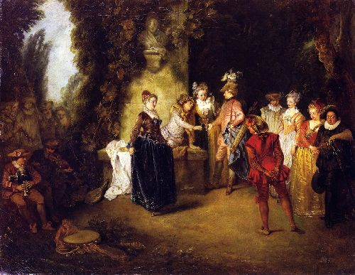 The French Theater | Jean Antoine Watteau | oil painting