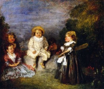 The Happy Day | Jean Antoine Watteau | oil painting