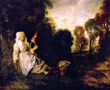 The Indiscreet Man | Jean Antoine Watteau | oil painting