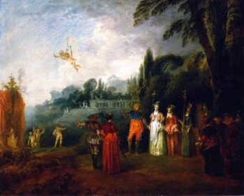 The Island of Cythera | Jean Antoine Watteau | oil painting
