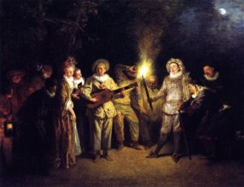 The Italian Theater | Jean Antoine Watteau | oil painting