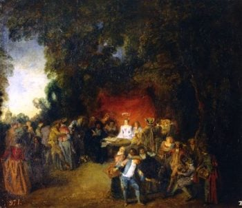 The Marriage Contract | Jean Antoine Watteau | oil painting