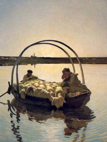 Ave Maria a trasbordo | Giovanni Segantini | oil painting