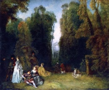 The Perspective | Jean Antoine Watteau | oil painting