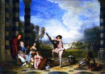 The Pleasures of LIfe | Jean Antoine Watteau | oil painting