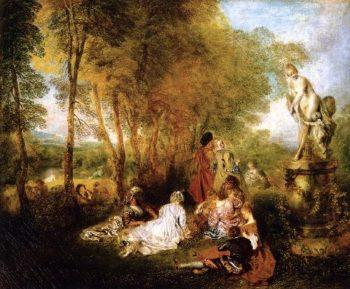 The Pleasures of Love | Jean Antoine Watteau | oil painting