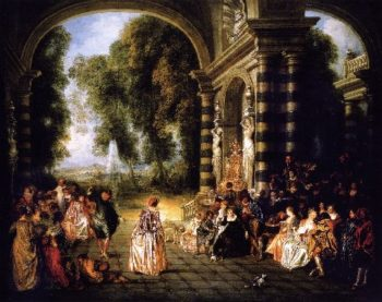 The Pleasures of the Ball | Jean Antoine Watteau | oil painting