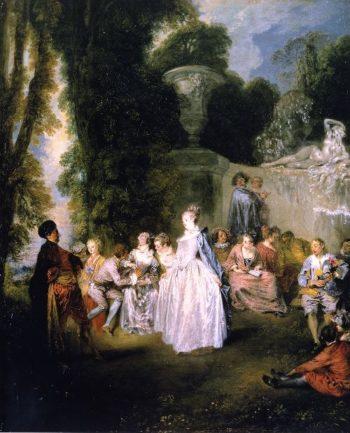 Venetian Pleasure | Jean Antoine Watteau | oil painting