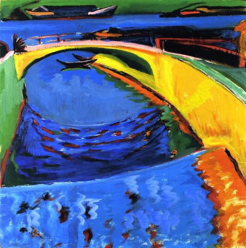 Bridge at the Mouth of the Priessnitz | Ernst Ludwig Kirchner | oil painting