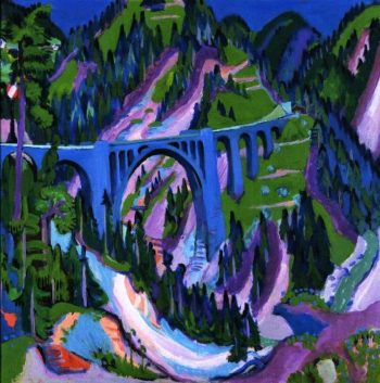 Bridge at Wiesen | Ernst Ludwig Kirchner | oil painting