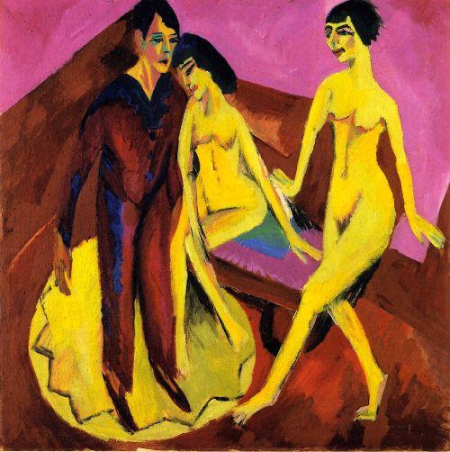 Dancing School | Ernst Ludwig Kirchner | oil painting