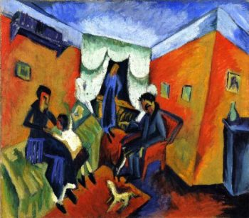 Dr in Red Chair   Ernst Ludwig Kirchner   oil painting
