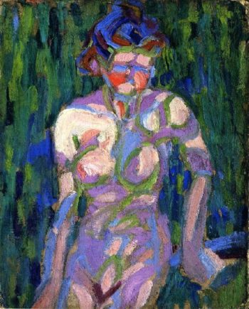 Female Nude with Foliage Shadows | Ernst Ludwig Kirchner | oil painting