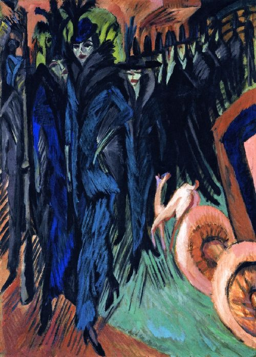 Friedrichstrasse Berlin | Ernst Ludwig Kirchner | oil painting