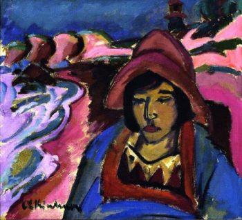 Girl in Southwester | Ernst Ludwig Kirchner | oil painting