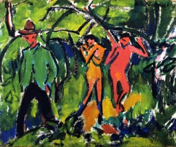 In the Forest | Ernst Ludwig Kirchner | oil painting
