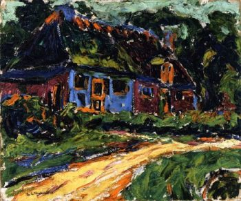 Old House Fehmarn | Ernst Ludwig Kirchner | oil painting