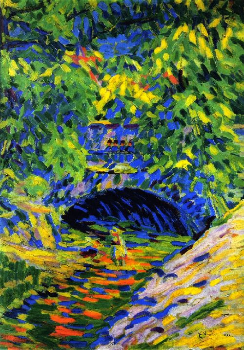 Prissnitz Bridge | Ernst Ludwig Kirchner | oil painting
