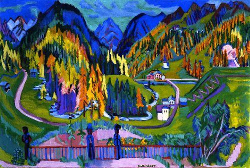 Sertig Valley in Autumn | Ernst Ludwig Kirchner | oil painting