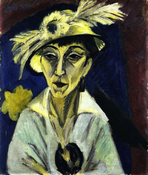 Sick Woman | Ernst Ludwig Kirchner | oil painting