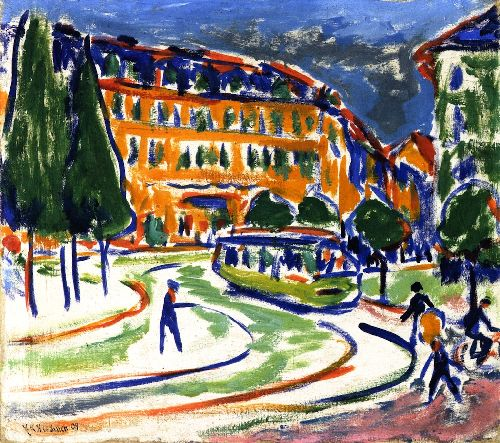 Streetcar | Ernst Ludwig Kirchner | oil painting