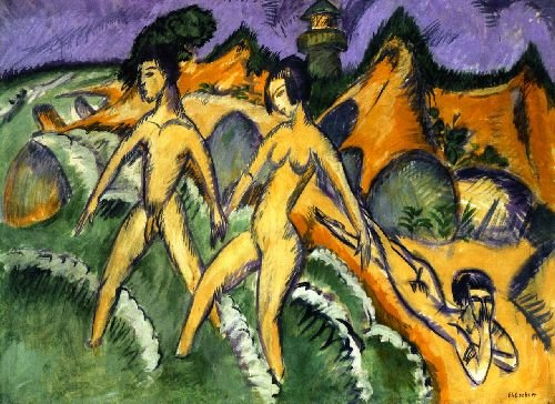Striding into the Sea | Ernst Ludwig Kirchner | oil painting