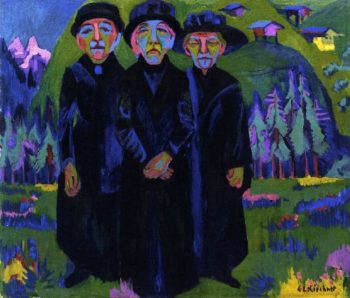 The Three Old Women | Ernst Ludwig Kirchner | oil painting