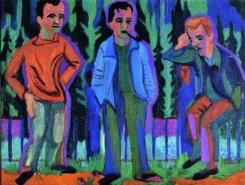 Three Artists Hermnn Scherer Kirchner Paul Camenisch | Ernst Ludwig Kirchner | oil painting