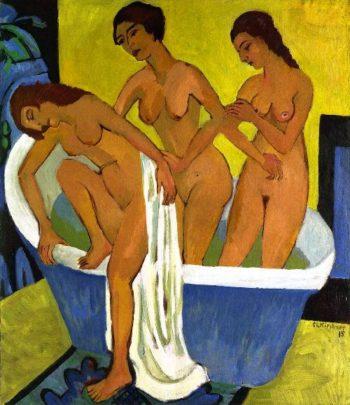 Women Bathing | Ernst Ludwig Kirchner | oil painting