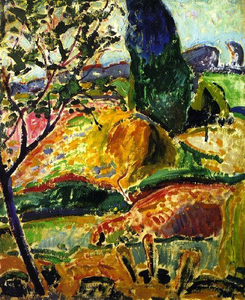 Fauve Landscape   Alfred Henry Maurer   oil painting