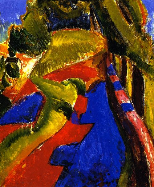 Fauve Landscape with Red and Blue | Alfred Henry Maurer | oil painting