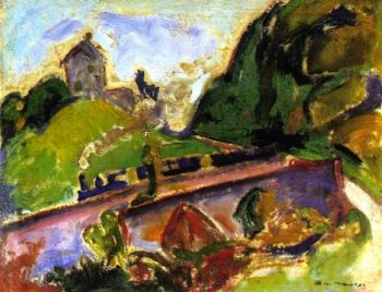 Fauve Landscape with Train | Alfred Henry Maurer | oil painting
