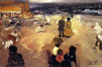 Figures by the Sea | Alfred Henry Maurer | oil painting