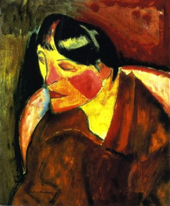 Head of a Woman | Alfred Henry Maurer | oil painting