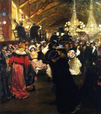 Le Bal au Moulin Rouge | Alfred Henry Maurer | oil painting