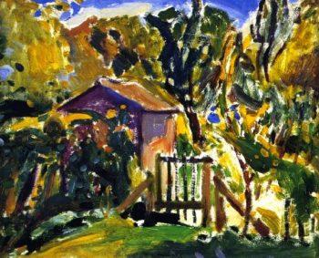 Porte de Ferme | Alfred Henry Maurer | oil painting