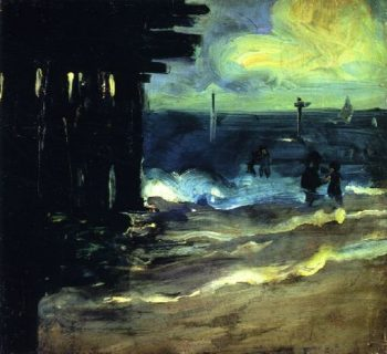 Rockaway Beach with Pier | Alfred Henry Maurer | oil painting