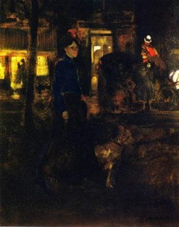 Street Scene Paris   Alfred Henry Maurer   oil painting