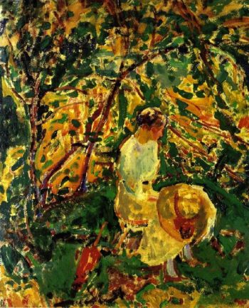Woman in a Garden | Alfred Henry Maurer | oil painting