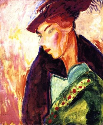 Woman with a Hat | Alfred Henry Maurer | oil painting