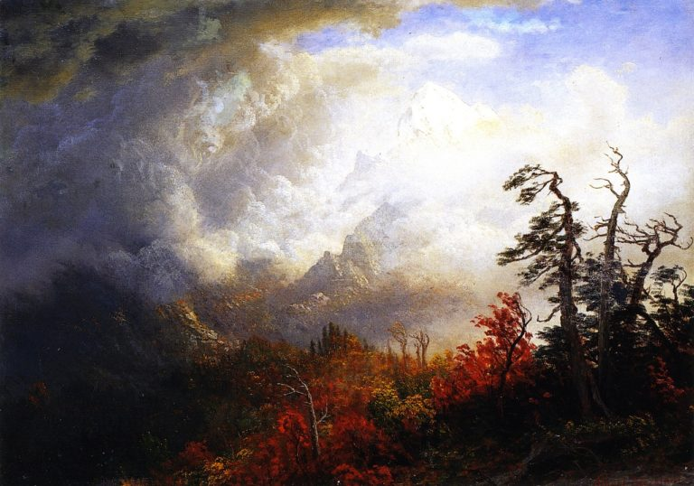 Autumn Landscape   Albert Bierstadt   oil painting