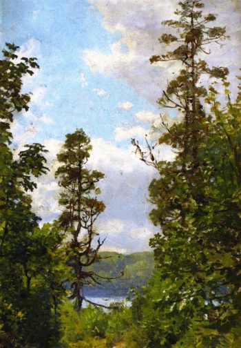 Tree Cloud and Sky | Anna Mary Richards Brewster | oil painting