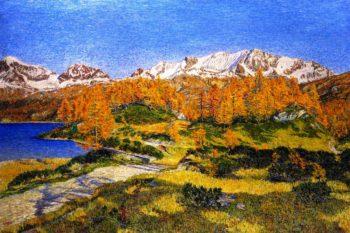 October Mountains | Gottardo Segantini | oil painting