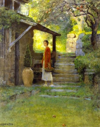 Constance Revere Matlack at Hidden Hearth | Anna Mary Richards Brewster | oil painting
