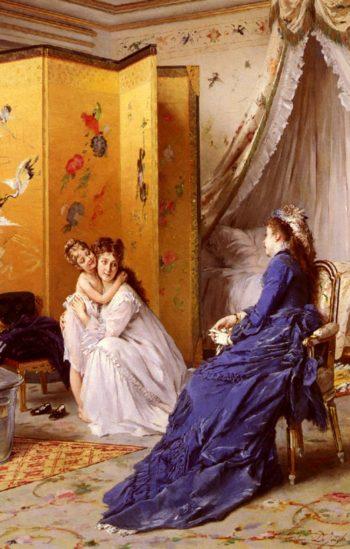 Apres le bain | Gustave Leonard de Jonghe | oil painting