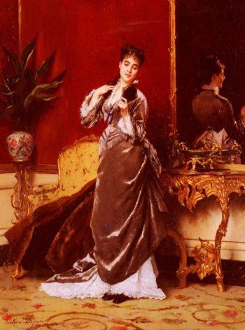 Dressing For The Ball | Gustave Leonard de Jonghe | oil painting