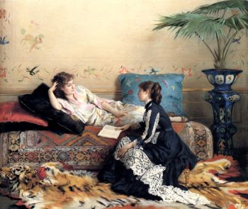 Idle Moments | Gustave Leonard de Jonghe | oil painting