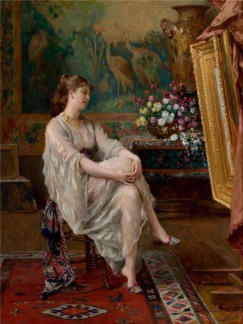 In the Artist's Studio | Gustave Leonard de Jonghe | oil painting