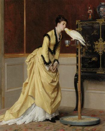 Le Baiser | Gustave Leonard de Jonghe | oil painting